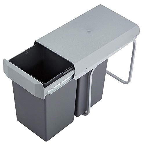 Victory Double Boy Einbau Abfallsammler einfarbig 2x15 Liter Mülleimer Teilauszug