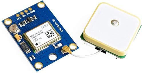 ICQUANZX GY-NEO6MV2 NEO-6M GPS-Flugsteuerungsmodul 3V-5V mit superstarker Keramikantenne für Arduino EEPROM APM 2.5