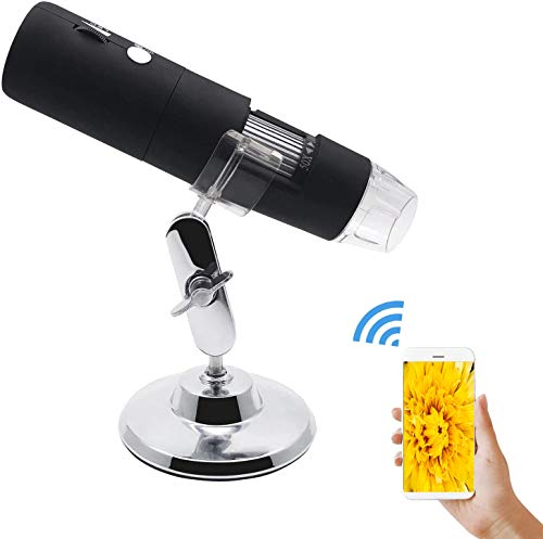 Wireless Digital Microscope USB Microscope Camera 50X to 1000X 8 LED Light WiFi Handheld Zoom Magnification Magnifier for PC, Android Smartphone, iPhone