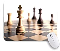 ECOMAOMI 可愛いマウスパッド 白のチェスの駒 滑り止めゴムバッキングマウスパッドノートブックコンピュータマウスマット