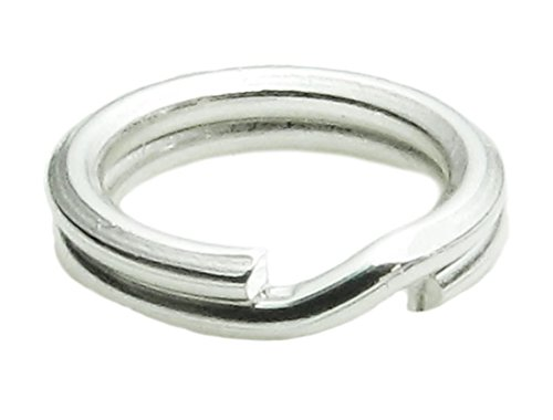 50pcs 6mm Sterling Silver Split Jump Ring Split Connector (Wire ~ 0.6mm or 22 Gauge) for Charms Jewelry Craft Making SS275-6