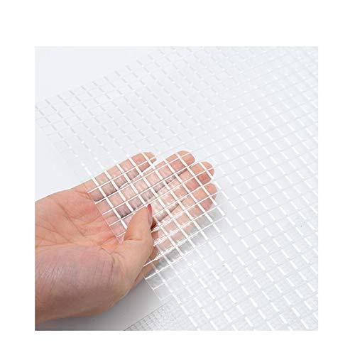 LJIANW-lonas impermeables exterior, 200GSM Tarea Pesada Malla Transparente con Ojal Lona PVC Impermeable Jaula para Mascotas Portada Cubierta De Muebles, Fácil De Instalar 44 Tamaños