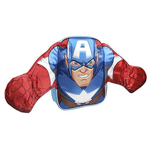 Artesania Cerda - Mochila Infantil Avengers Capitan America, 31 cm, Azul