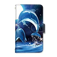 [スマとく] Xperia XZ2 Premium SO-04K / SOV38 手帳型 ケース カード スマホケース 携帯ケース 携帯カバー スマホカバー SONY エクスペリア エックスゼットツー プレミアム s004_a 最新機種 月 星 イルカ 海