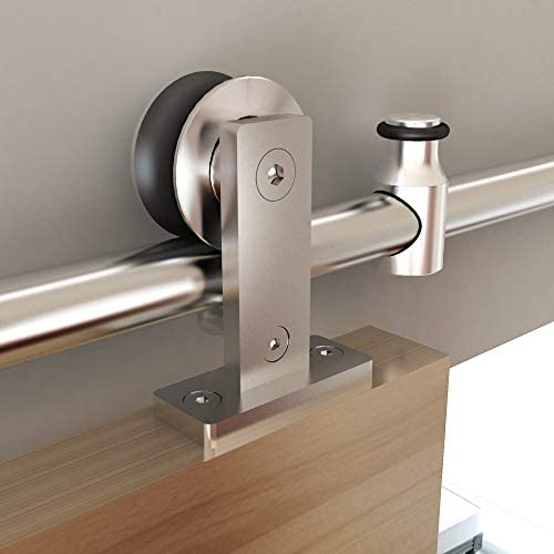 Top Mount Max 56% OFF Stainless Steel Barn Sale item Style Track Hard Sliding Door and