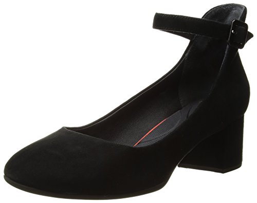 Rockport Womens Total Motion Novalie Anklestrap Dress Pump, Black, 8.5 W US