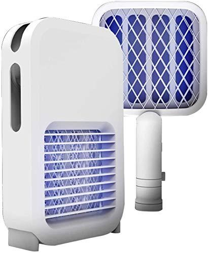 SAFGH 2 en 1 Mosquito Killer Light, Trampa de Insectos de Mano Raqueta Matamoscas para Uso en Interiores y Exteriores