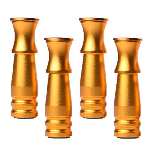 Juego de 4 patas para muebles, patas de metal, patas de sofá, patas de mesa, de aluminio, patas de sofá, patas de escritorio, patas de repuesto, con tornillos, varios colores (bronce 10 cm)