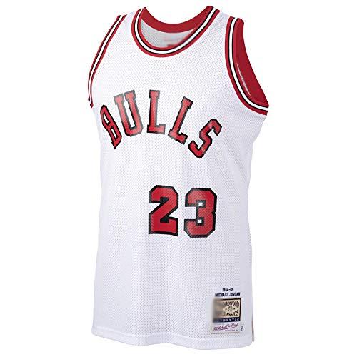Camiseta de baloncesto para hombre Michael Bulls #23 Chicago Jordan 1984-85 Hardwood Classics Rookie Jersey de secado rápido ropa deportiva para hombres Blanco