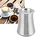 Tamiz de café, filtro de polvo de café de acero inoxidable 304 útil 8 x 10 cm para recibir polvo para el hogar para cafetería para pesar granos(Sanding primary colors)