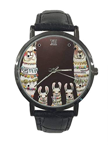 Reloj de pulsera de cuarzo analógico de cuarzo con estampado de camello