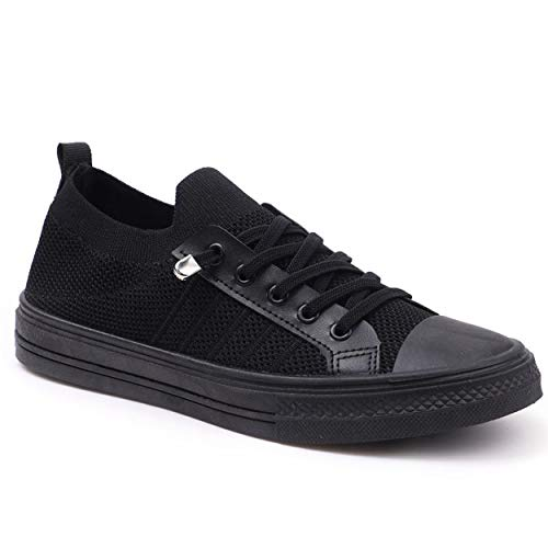 Showmee - Zapatillas para mujer, zapatillas para mujer, ligeras, zapatillas de deporte, zapatillas para mujer, (Noir Snk), 37 EU