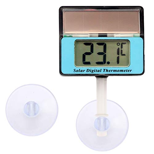 Lantelme Solar Thermometer Digital Wasserdicht Saugnapf Universal Aquarium Vivarium Terrarium Temperaturmesser 6809