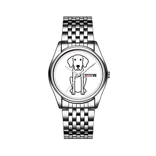 Reloj de pulsera para hombre de lujo, resistente al agua, 30 m, con fecha, reloj de pulsera deportivo, de cuarzo, informal, regalo de Baviera, hound Dog Cartoon