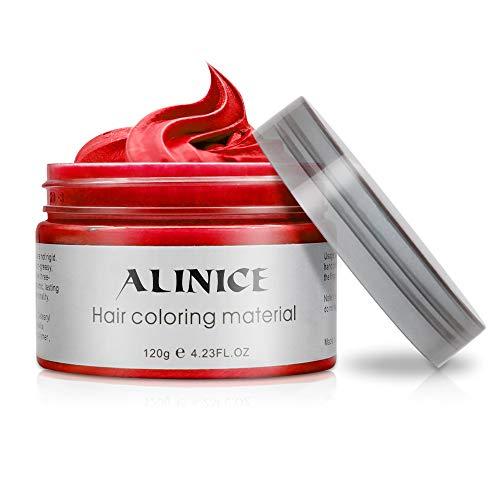 ALINICE neue stil 120g Haarwachs Männer und Frauen Professionelle Haar Pomaden, lang anhaltende Feuchtigkeitsspendende Modellierung Haar Styling Fluffy Matte Haar Schlamm Gel creme (Rot)