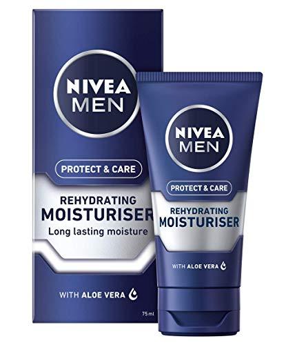 NIVEA MEN Rehydrating Face Moisturiser Protect & Care (75 ml), Hydrating Face Moisturiser, Mens Moisturiser Soothes Dry Skin, Rehydrating and Caring Moisturiser, Pack of 2