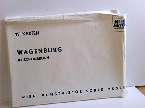 Wagenburg in Schönbronn. Konvolut 17 x AK farbig in Papierumschlag einliegend. Wien, Kunsthistorisches Museeum. Kutschen, Leichenwagen, Gebäudeansicht, Pferd, Schlitten, Adel, Monarchie