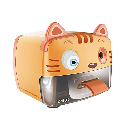 Zmol Electric Pencil Sharpener,Heavy Duty Helical Blade Sharpeners Plug in for Kids Artists Classroom Office School,Auto-Stop Feature for No.2 and Colored Pencils (Tiger)