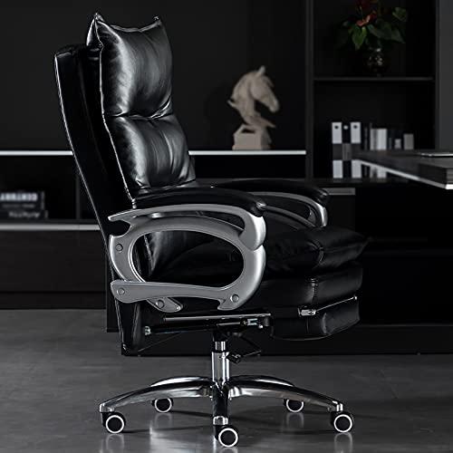 YDYBY Sedia da Gaming Ergonomica da Funzione,Sedia Ufficio Schiena Alta High Supporto Lombare Sedia direzionale Cuscino in Spugna con Poggiapiedi Tavoli e sedie,Nero