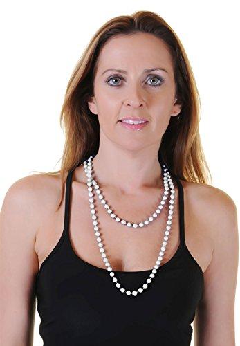 Wicked Fun stile anni 48in plastica bianco perla collana