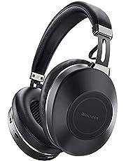Bluetooth-hörlurar över örat, Bluedio H2 Aktiv brusreducerande hörlurar med mikrofon, 57 mm djup hifi-bas, skjutreglage touch-kontroll, 40 timmars speltid, trådlösa headset för resor, onlineklass, arbete