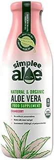Simplee Aloe Natural & Organic Cranberry Aloe Vera Juice - 500ml (17.59 fl oz)