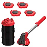 Heavy Duty Furniture Lifter with 4 Sliders for Easy and Safe Moving, Appliance Roller Suitable for Sofas, Couches and...