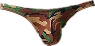 Mens Underwear ! Charberry Mens Camo Gravity Triangle Briefs Fashion Mens Briefs Underwear Bulge Camouflage Print Sports Underpants (US-L/CN-XL, Green)