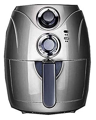 SUCICI 2.5L Automatic Fryer Air Fry Fries Machine Household Mini Air Fryer Fully Automatic Intelligent No Fuel Electric Deep Fryer Oven UK Black