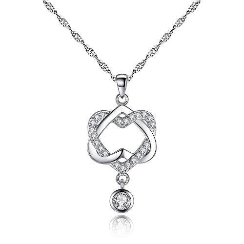 D&M Halskette Damen Anhänger Liebe Halskette Glück Schmuck Boutique Schmuck