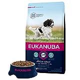 Eukanuba - Croquettes Premium Chiens Adultes Moyennes Races - 100% Complète et Equilibrée - Sans Protéines Végétales Cachées - Sans OGM Conservateurs Arôme Artificiel - Riche en Poulet Frais - 3kg