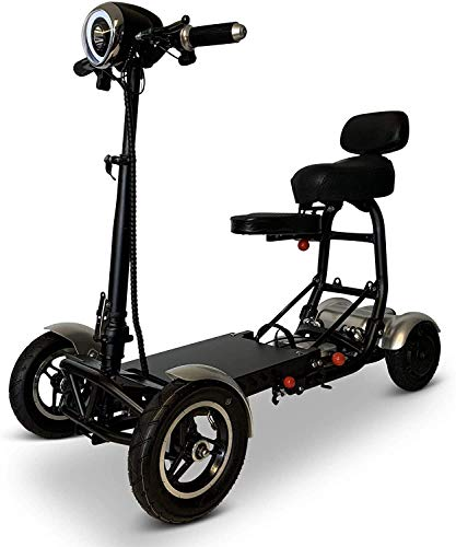 Dragon Mobil Foldable Lightweight Power Mobility Scooters Easy Travel Electric Wheelchair Multi Terrain Scooter for Adults with Child Seat - Compact Heavy Duty Mobile for Travel, Adults, Elderly