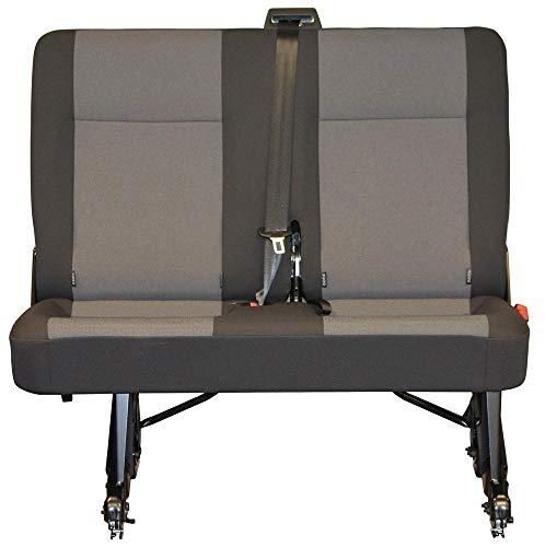 INKA Funda de repuesto para asiento trasero doble Austin Titanio - para VolksWagen T5 T6 Transporter