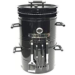 🔥🥩🍗 multi-function - our 5 in 1 barrel gives much more than meets the eye! It can be used as a Table to set down any item, an independent fire pit for winter, a BBQ pit with an adjustable cooking rack to manage the desired cooking temperature for mea...