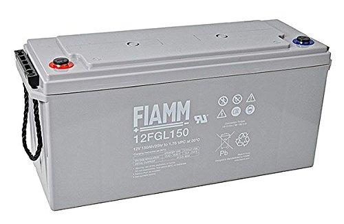 Batterie Camping Car Solaire 12 Ans AGM 12V 150Ah Marque Fiamm 12FGL150