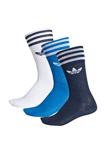 adidas Solid Crew Calcetines, Unisex Adulto, Azul (Maruni/azucie/Blanco), 39/42