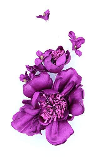 Flore de tela con broche 'Laura' (Buganvilla)