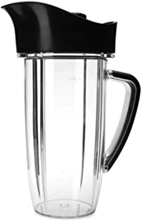 NutriBullet NBM-U0273 Rx 45 Oz Oversized Cup with Pitcher Lid, Black/Clear