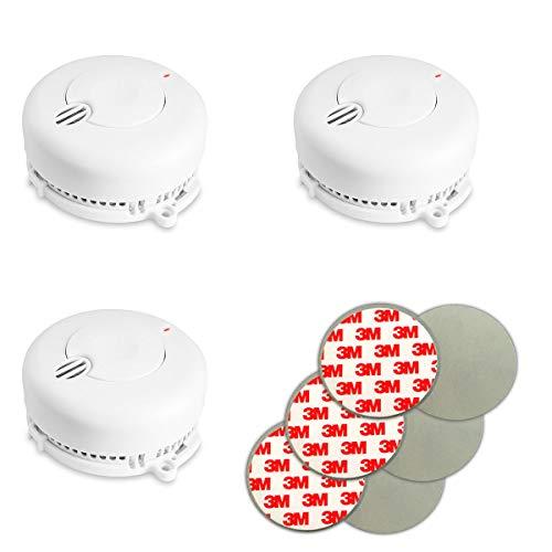 3X Kidde FireX Rauchmelder 29BHLD-FR mit 5 Jahresbatterie (austauschbar) und Magnethalterung. Rauchwarnmelder nach DIN EN 14604 inklusive Batterie