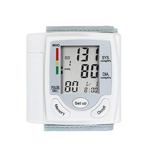 Ritioner Tensiómetro de Brazo Digital,Pantalla LCD Monitor de Presión Arterial,Medidor de Pulso de Muñeca Pulsómetro Digital automático,Esfigmomanómetro Herramienta de diagnóstico Familiar