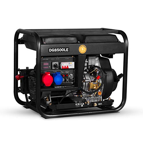 HIOD Stromerzeuger Notstromaggregat Notfallgenerator Dieselgeneratoren 5500W, 5.5 kva zum Zuhause Draussen Wohnmobil,3-Phase