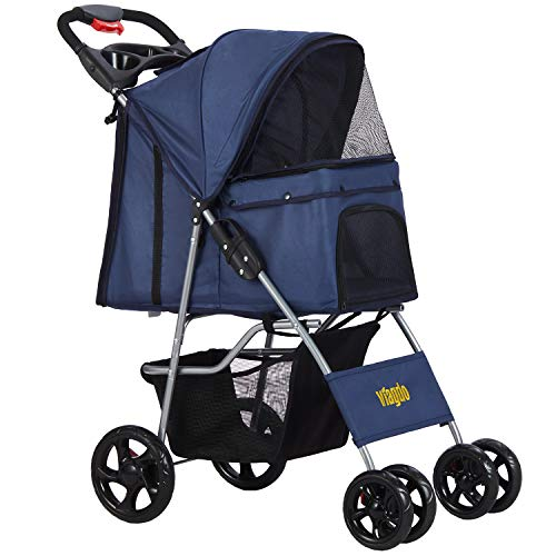 VIAGDO Dog Stroller, Pet Strollers for Small Medium Dogs &...