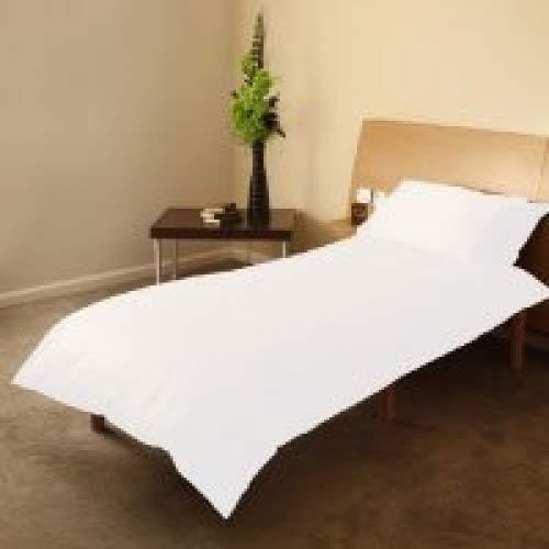 Housse de couette 120 cm x 150 cm et taie d'oreiller blanches en coton naturel de qualité supérieure pour lit d'enfant
