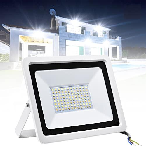 RCBDBSM Focos LED Exterior 50W / 100W Potente Luces LED Exterior, 3 Colores Que Cambian de Color luz de Inundación para Exteriores Prueba de Agua Ip65 para Patio, Jardín, Garajes,50W