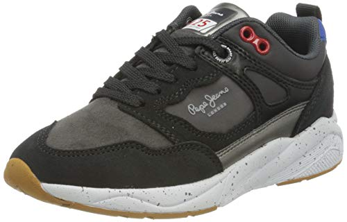 Pepe Jeans London Orbital Combi Junior, Zapatillas, 999black, 35 EU
