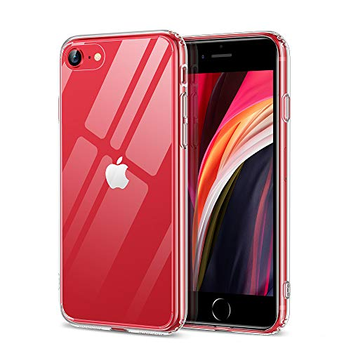 ESR Funda Cristal HD para iPhone iPhone SE/8/7 [Resistente Arañazos][Resistente Amarilleo][Parte Trasera...