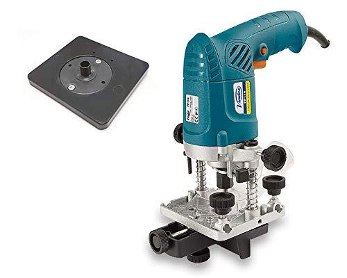 VIRUTEX 1400100 1400100-Fresadora perniadora FP114 230V 430W Pinza 6mm 26.000 RPM 2,96 Kg, Negro