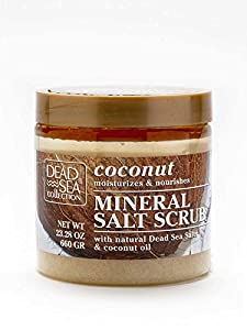 Dead Sea Collection Minerals Salt Scrub Body Nurturing Salts & Essential Oil (Coconut Oil, Package of 3)