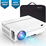 TOPVISION Heimkino Beamer, 6000 Lumen Video Projektor with 80.000...