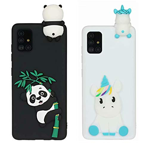 [2 Pack] Case for iPhone 7 Plus, iPhone 8 Plus, 3D Cartoon Silicone Soft Silicone Gel TPU Shockproof Protective Cases Slim Fit Ultra Thin Rubber Bumper Funny Girly Cover for iPhone 7 Plus/8 Plus2Pcs-7